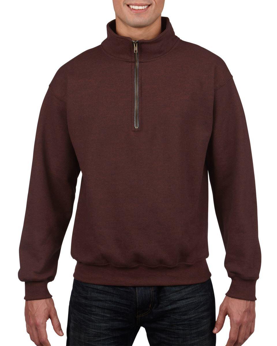 GILDAN Heavyblend MEN/'S VINTAGE 1//4 Zip Pullover Morbido Felpa Maglione Nuovo