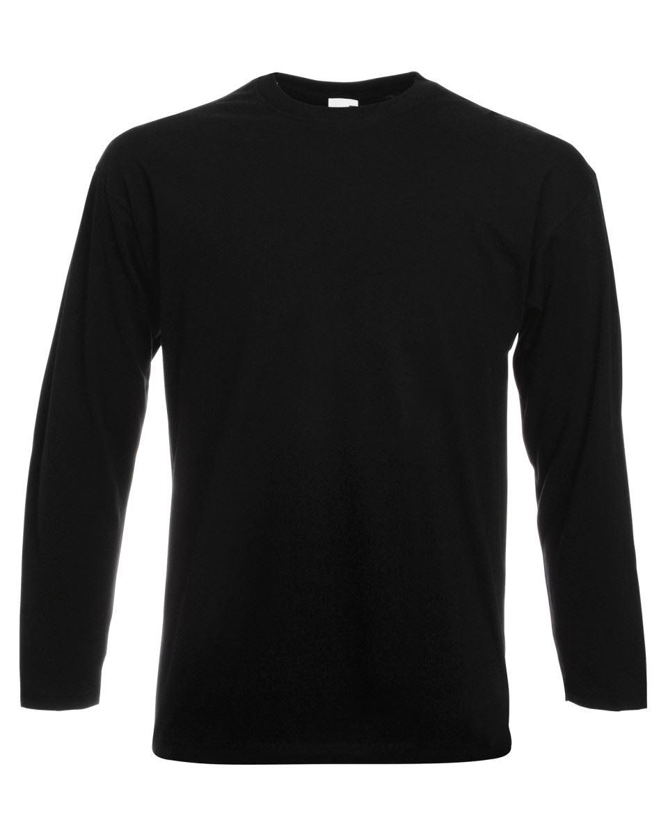 Men-039-s-Fruit-of-the-Loom-Long-Sleeve-T-Shirt-Plain-Tee-Shirt-Top-Cotton-S-5XL thumbnail 3