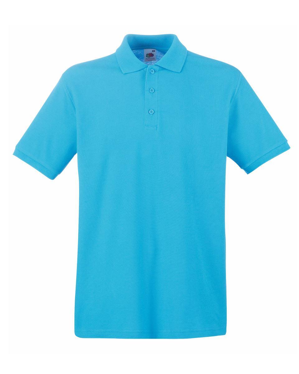 Mens-Polo-Shirts-Fruit-of-the-Loom-Premium-Polo-100-Cotton-Polo-Shirt-SS255 thumbnail 8