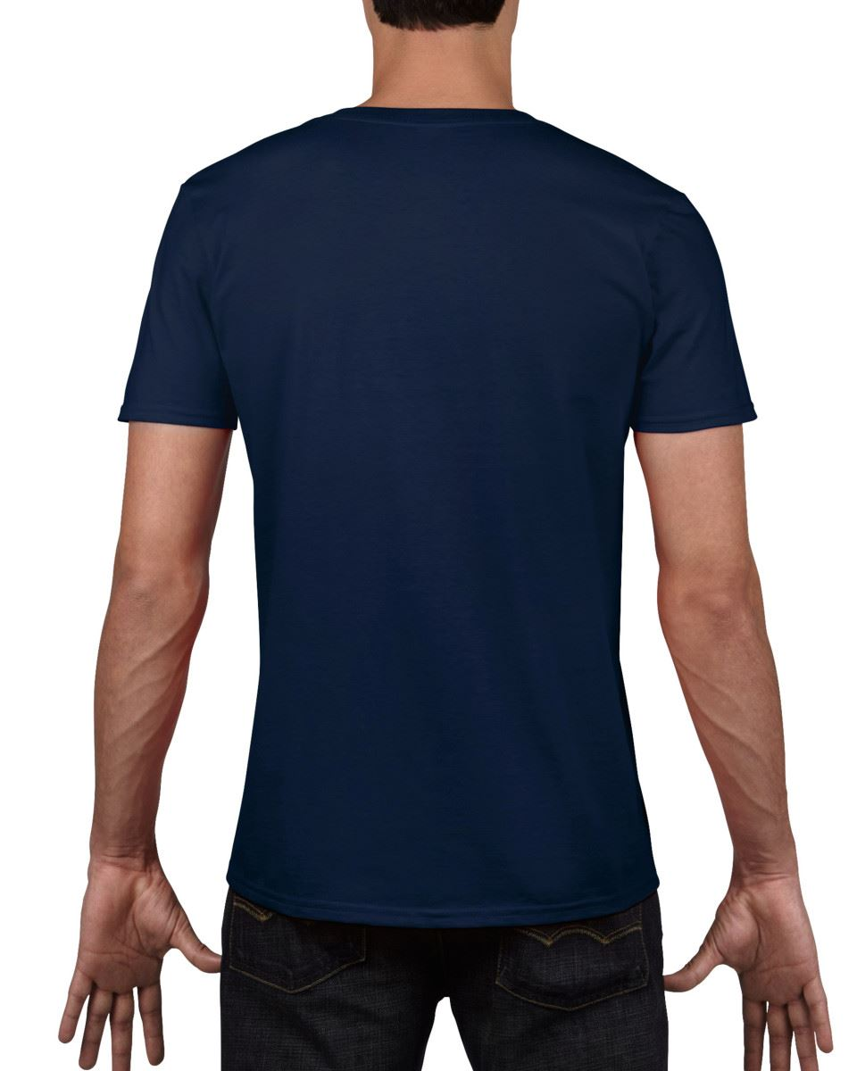 Gildan-Mens-Men-039-s-Soft-Style-Plain-V-Neck-T-Shirt-Cotton-Tee-Tshirt thumbnail 39