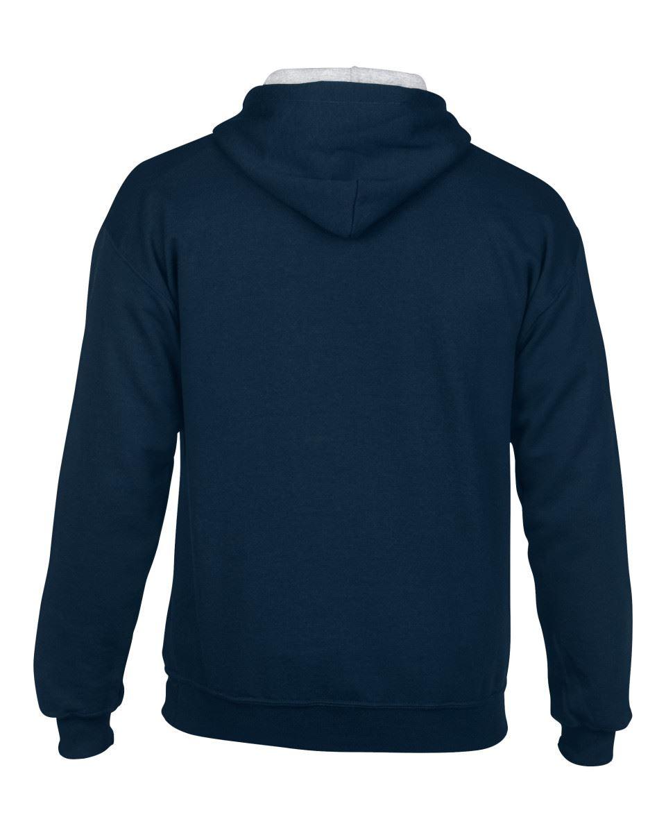 Gildan-Heavy-Blend-Plain-Contrast-Hooded-Sweatshirt-Hoodie-Sweat-Hoody-Jumper thumbnail 19