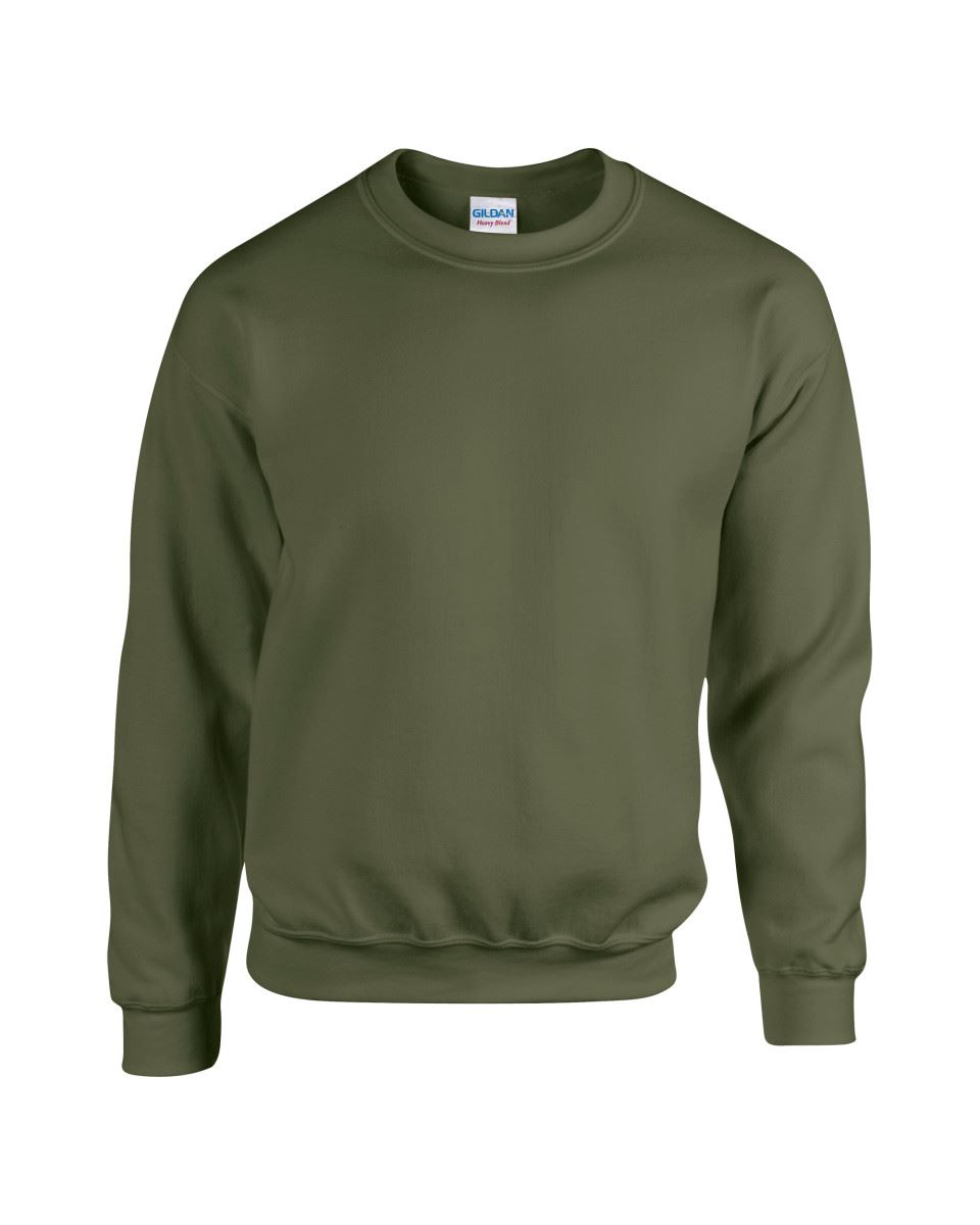 Gildan-Heavy-Blend-Adult-Crew-Neck-Pullover-Sweatshirt-Sweater-Workwear-Uniform thumbnail 124