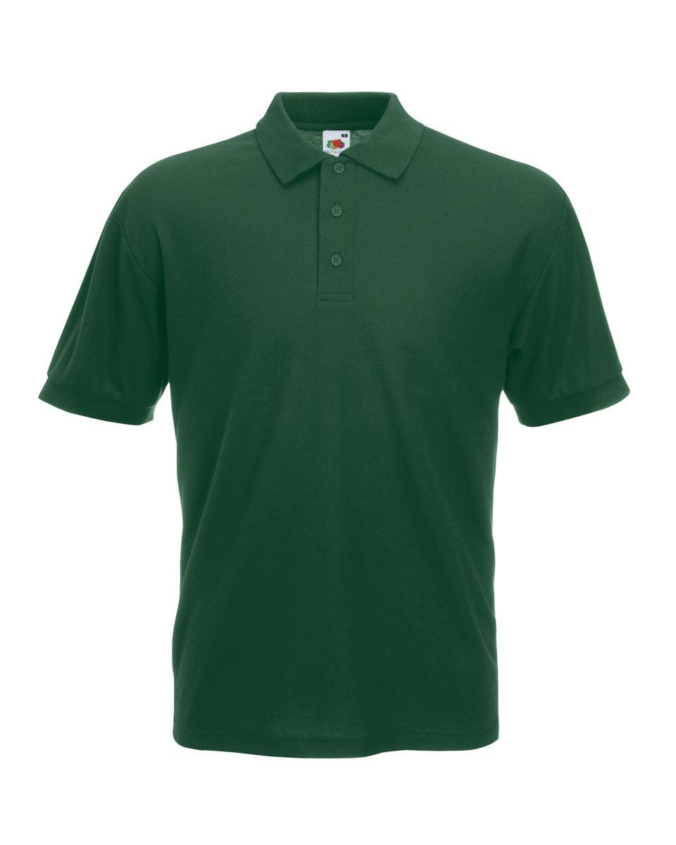 Fruit-of-the-Loom-Plain-Cotton-Mens-Polo-Shirts-T-Shirt-Short-Sleeve-Tshirt thumbnail 4