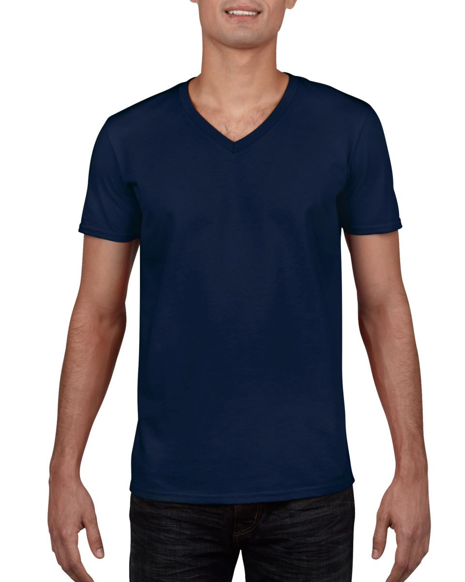 Gildan-Mens-Men-039-s-Soft-Style-Plain-V-Neck-T-Shirt-Cotton-Tee-Tshirt thumbnail 38