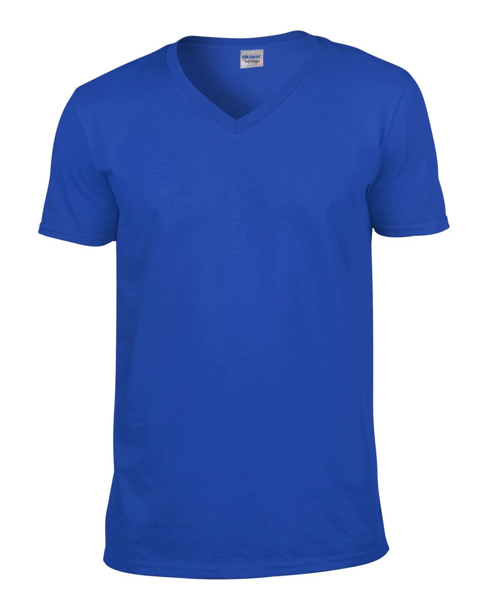 Gildan-Mens-Men-039-s-Soft-Style-Plain-V-Neck-T-Shirt-Cotton-Tee-Tshirt thumbnail 55