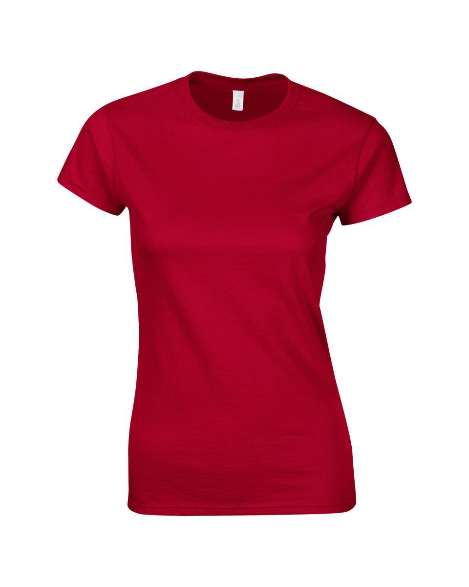 Gildan-Womens-Ladies-Soft-Style-Plain-V-Neck-T-Shirt-Cotton-Tee-Tshirt thumbnail 39