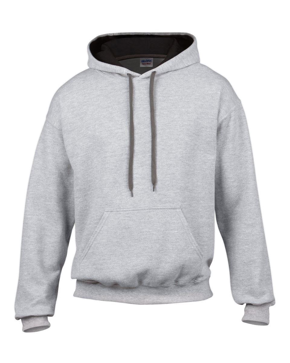 Gildan-Heavy-Blend-Plain-Contrast-Hooded-Sweatshirt-Hoodie-Sweat-Hoody-Jumper thumbnail 33