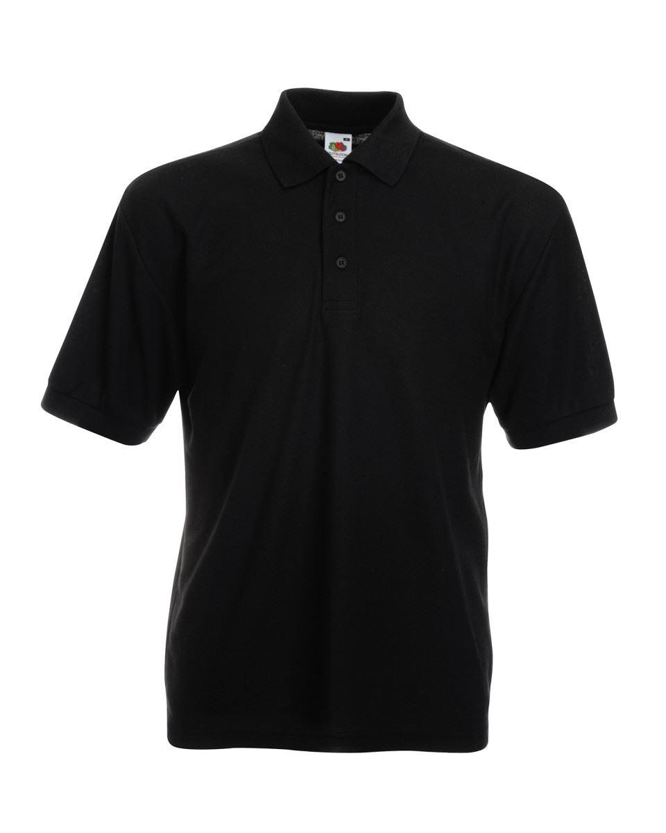 Fruit-of-the-Loom-Plain-Cotton-Mens-Polo-Shirts-T-Shirt-Short-Sleeve-Tshirt thumbnail 2