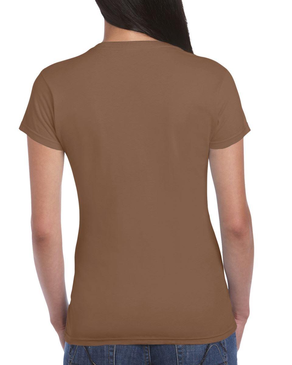 Gildan-Womens-Ladies-Soft-Style-Plain-V-Neck-T-Shirt-Cotton-Tee-Tshirt thumbnail 43