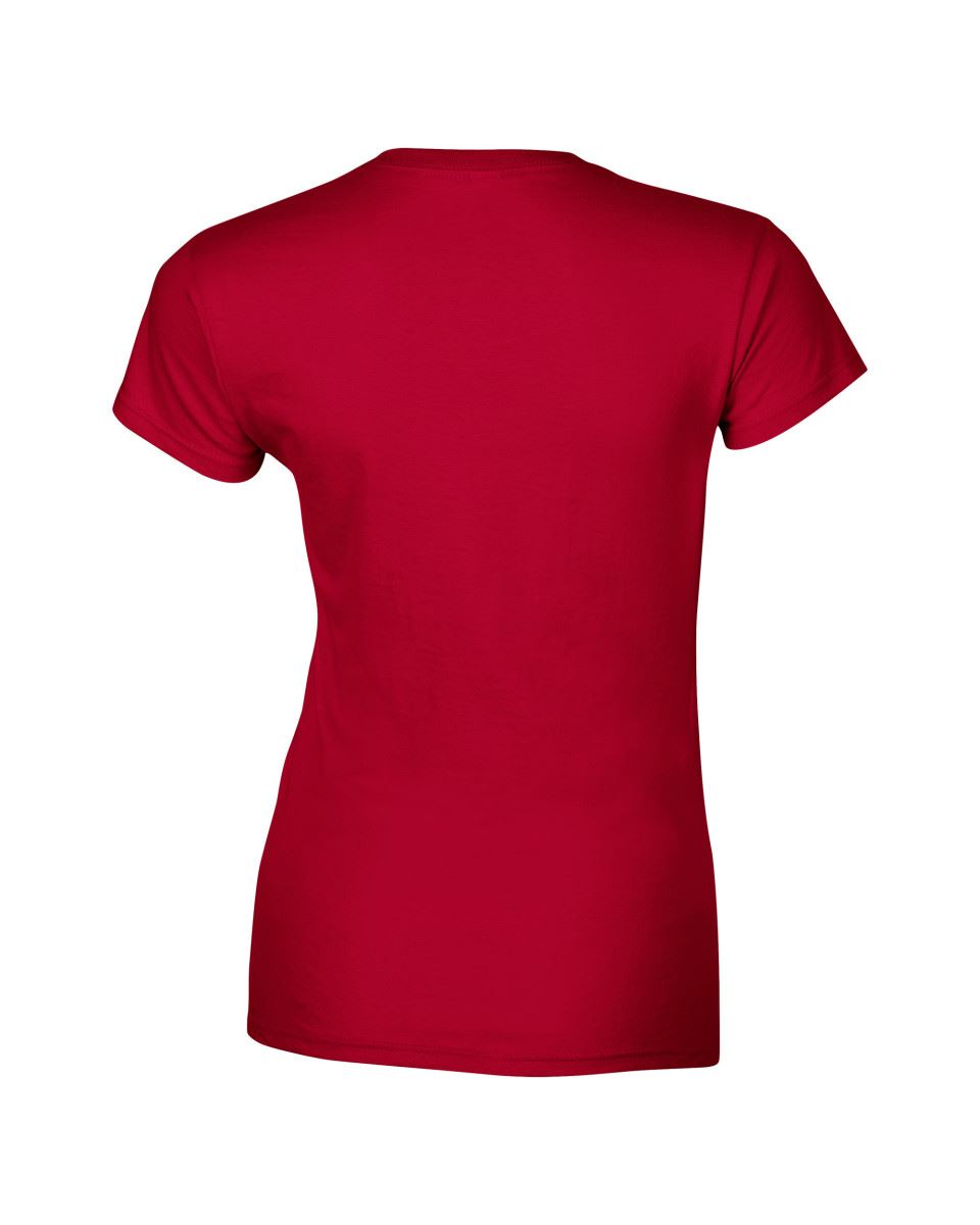 Gildan-Womens-Ladies-Soft-Style-Plain-V-Neck-T-Shirt-Cotton-Tee-Tshirt thumbnail 40