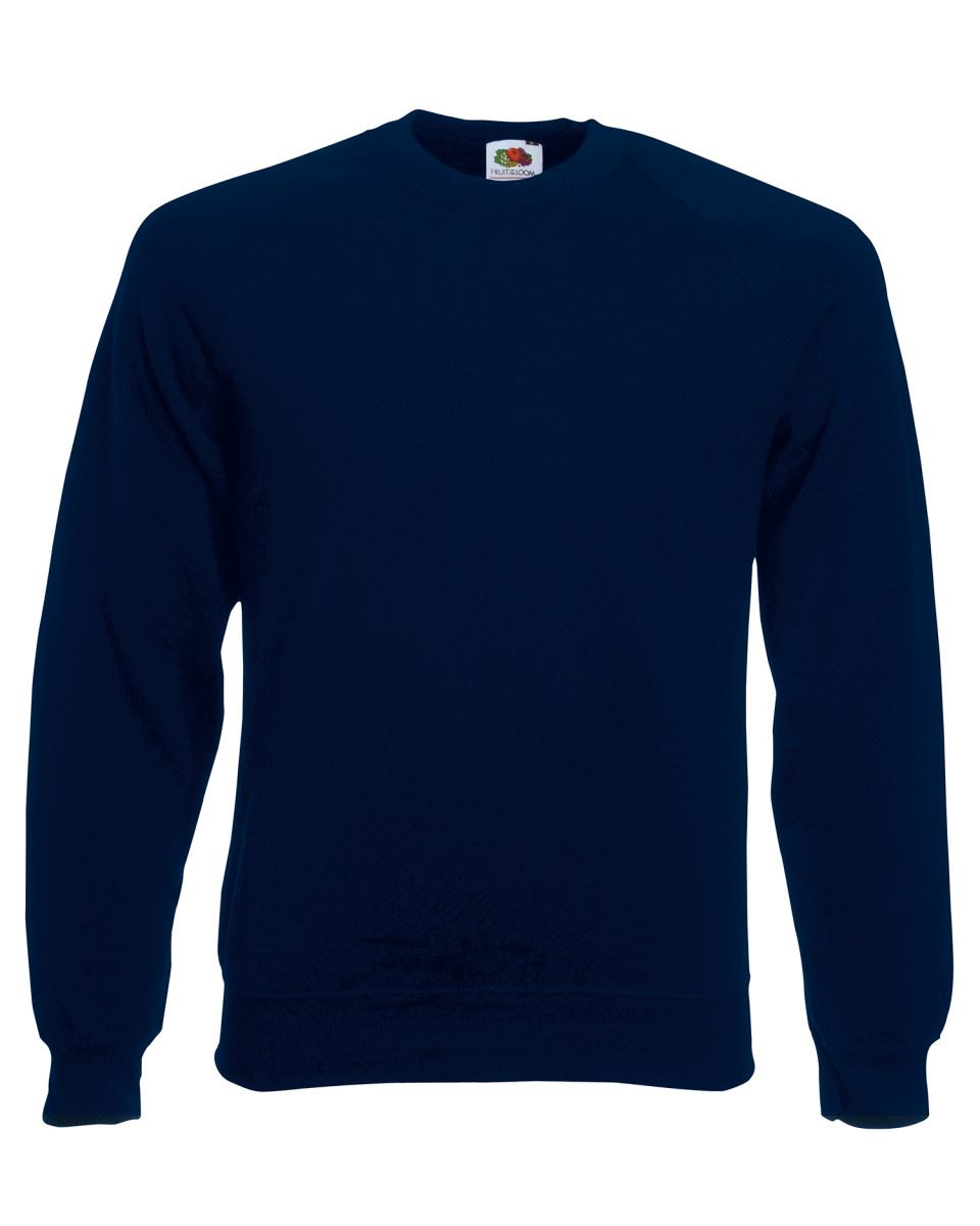 Mens-Sweatshirt-Fruit-Of-The-Loom-Raglan-Sweat-Pullover-Plain-Top-Jumper-Sweater thumbnail 20