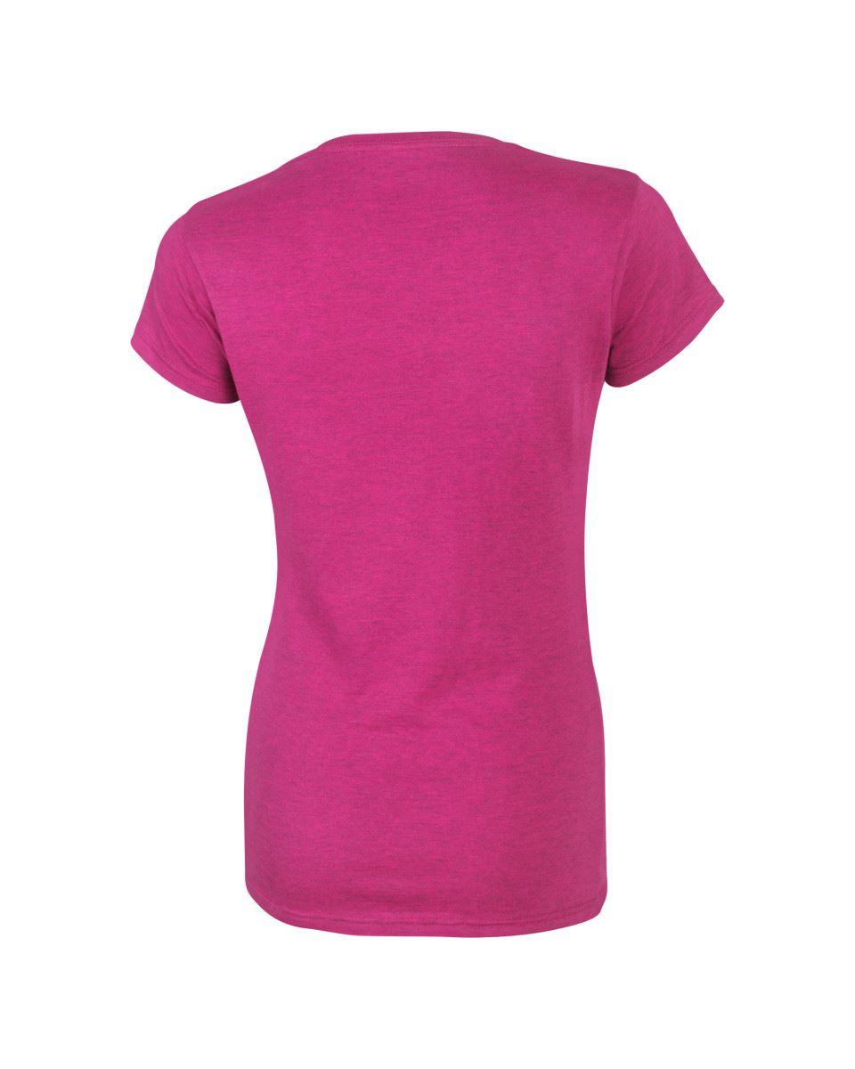 Gildan-Womens-Ladies-Soft-Style-Plain-V-Neck-T-Shirt-Cotton-Tee-Tshirt thumbnail 20