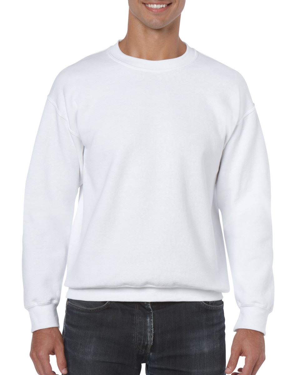 Gildan-Heavy-Blend-Adult-Crew-Neck-Pullover-Sweatshirt-Sweater-Workwear-Uniform thumbnail 3