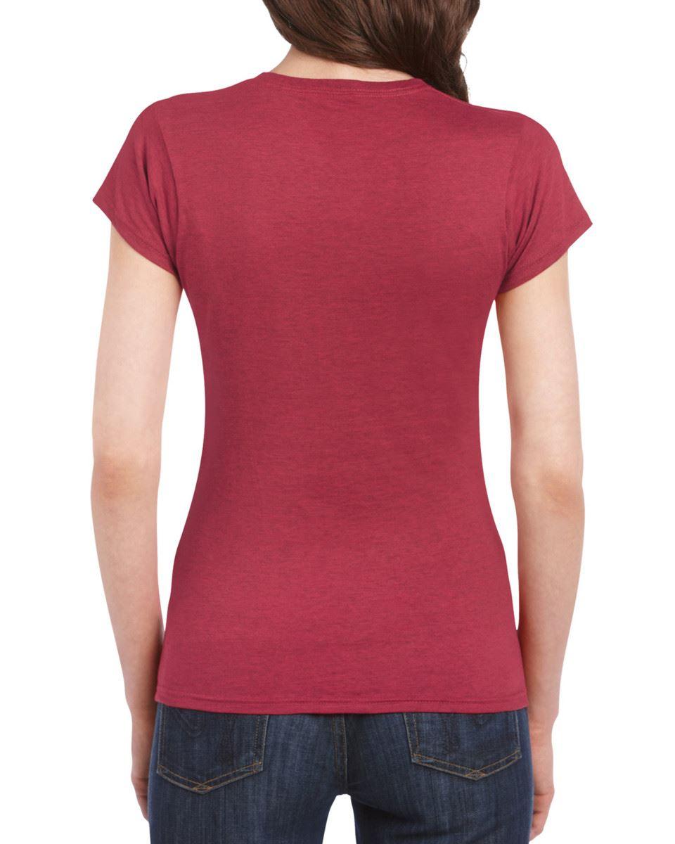 Gildan-Womens-Ladies-Soft-Style-Plain-V-Neck-T-Shirt-Cotton-Tee-Tshirt thumbnail 13