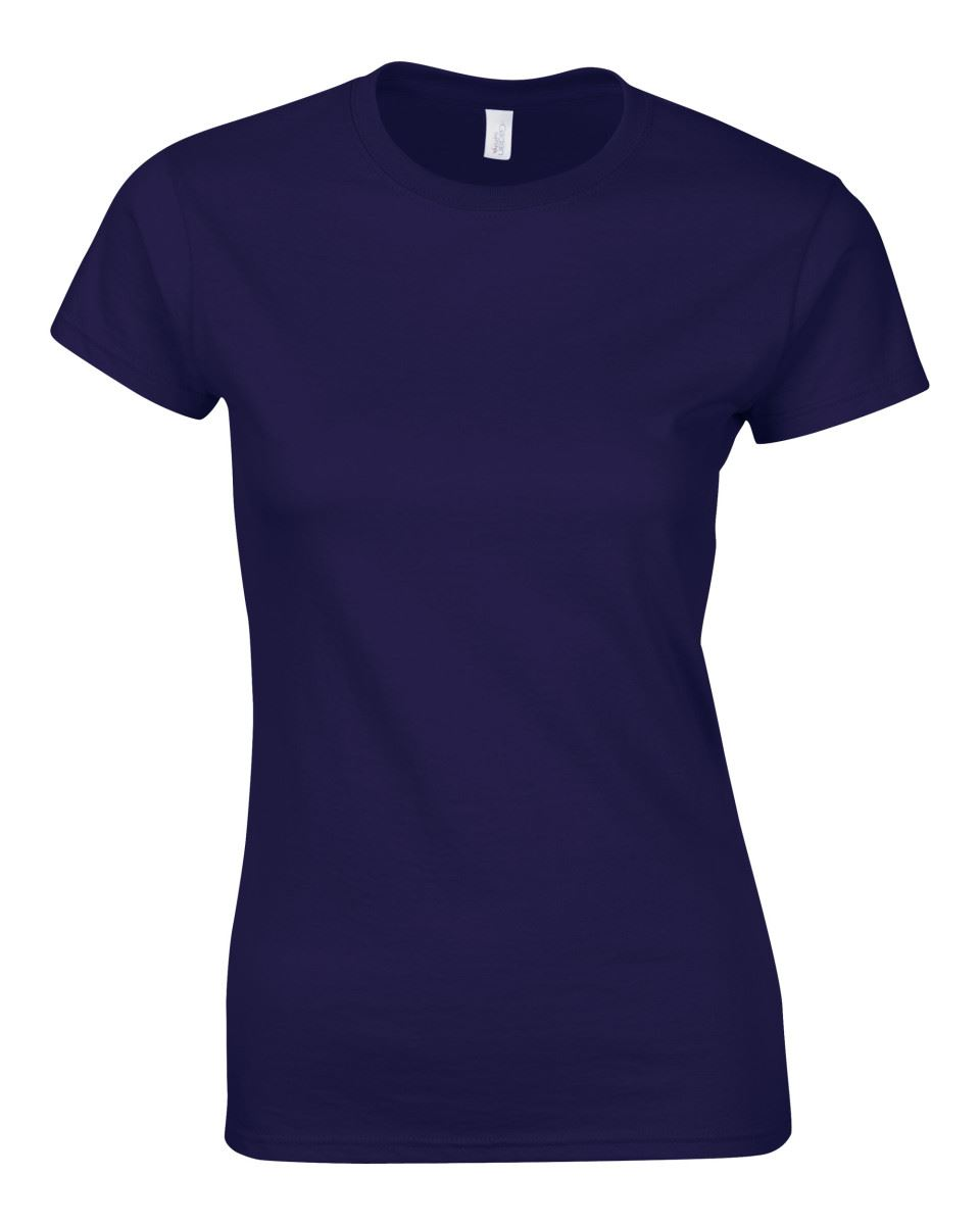 Gildan-Womens-Ladies-Soft-Style-Plain-V-Neck-T-Shirt-Cotton-Tee-Tshirt thumbnail 51