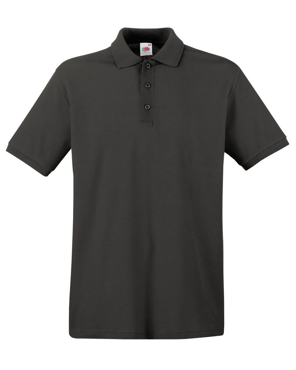 Mens-Polo-Shirts-Fruit-of-the-Loom-Premium-Polo-100-Cotton-Polo-Shirt-SS255 thumbnail 26