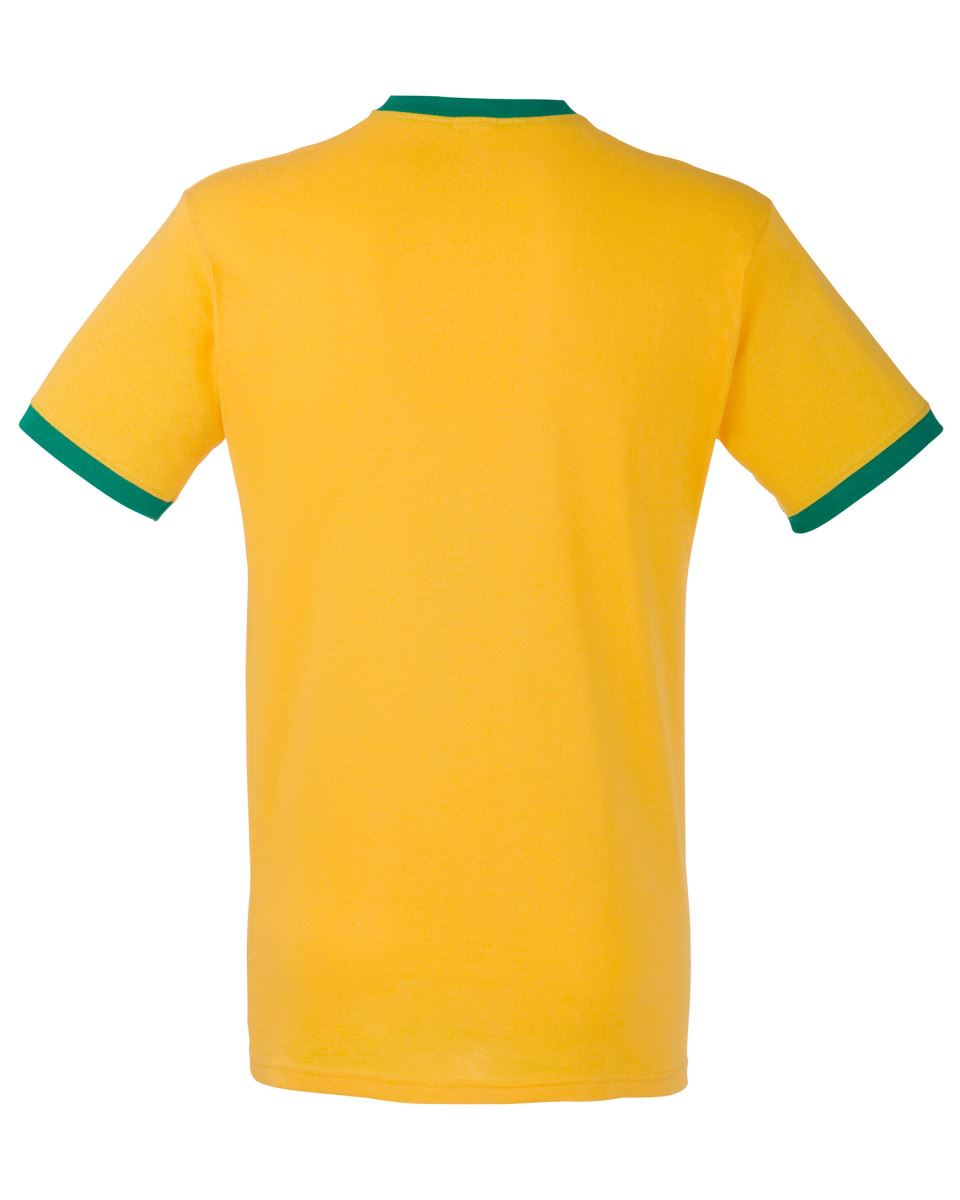 Fruit-of-the-Loom-Mens-Short-Sleeve-Plain-Ringer-T-Shirt-Shirt-Two-Tone-Contrast thumbnail 13