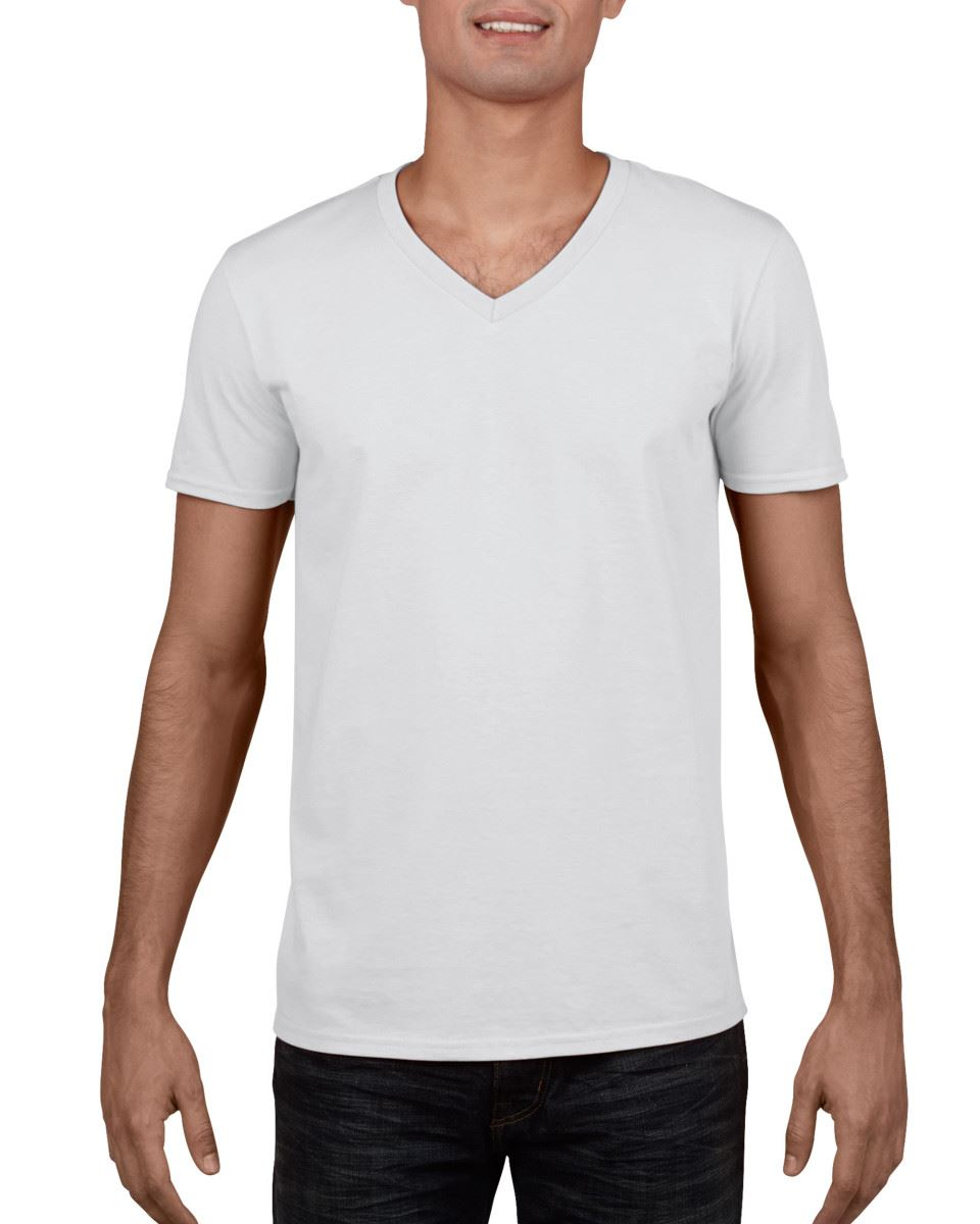 Gildan-Mens-Men-039-s-Soft-Style-Plain-V-Neck-T-Shirt-Cotton-Tee-Tshirt thumbnail 3