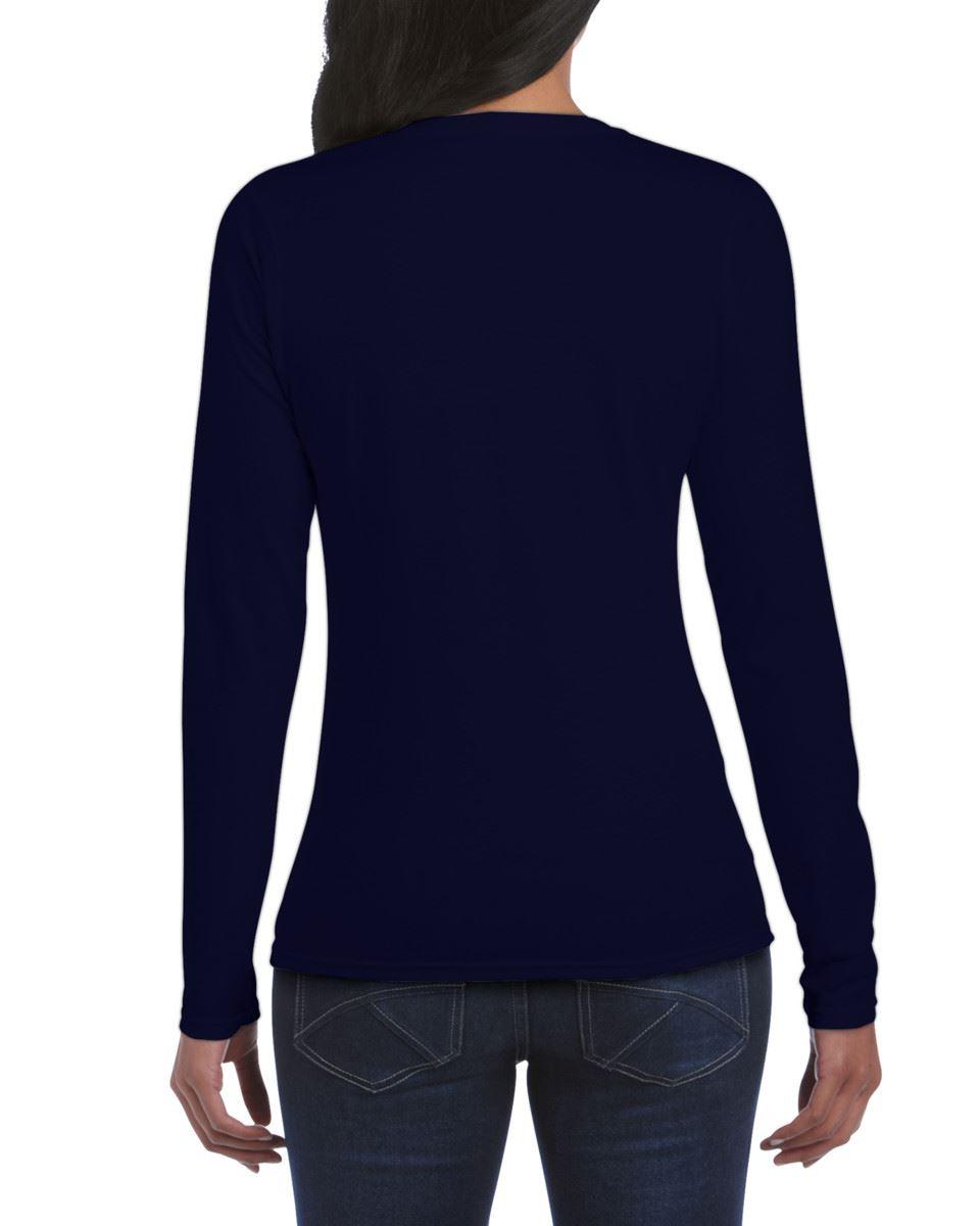 GILDAN-softsyle-Femmes-T-shirt-homme-a-manches-longues-100-Coton-Doux-Decontracte-Femme miniature 29