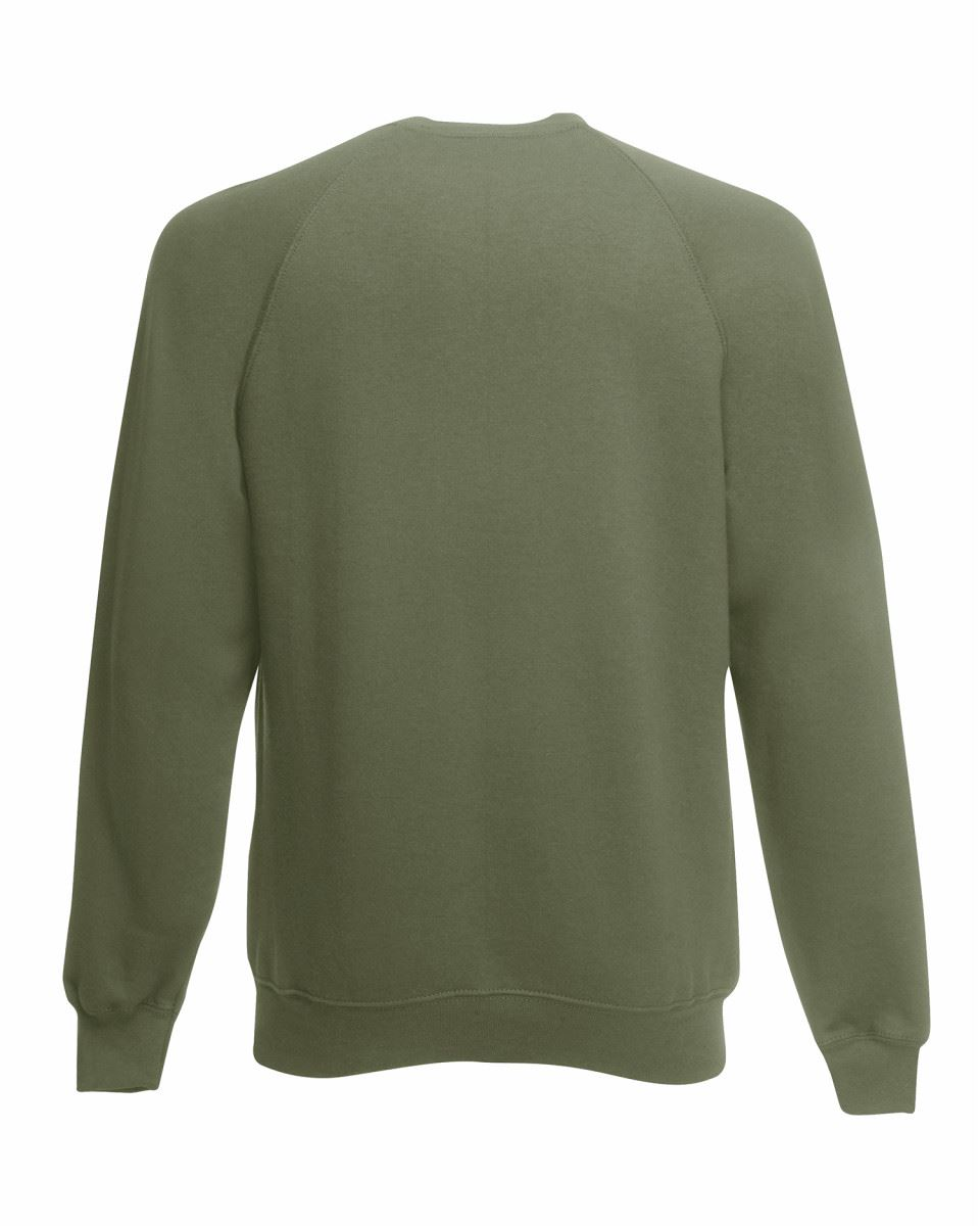 Mens-Sweatshirt-Fruit-Of-The-Loom-Raglan-Sweat-Pullover-Plain-Top-Jumper-Sweater thumbnail 19