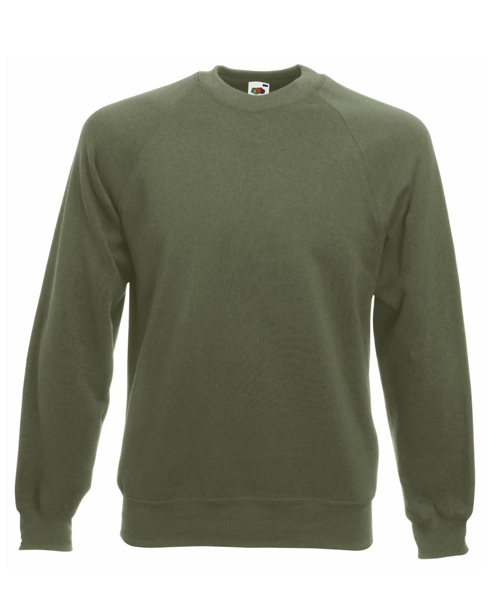 Mens-Sweatshirt-Fruit-Of-The-Loom-Raglan-Sweat-Pullover-Plain-Top-Jumper-Sweater thumbnail 18