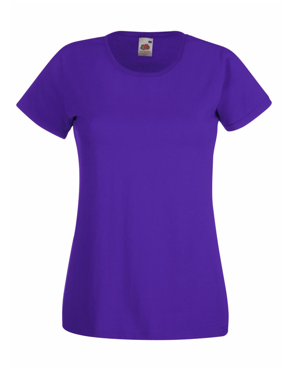 Fruit-of-the-Loom-Womens-Lady-Fit-T-Shirt-Valueweight-Plain-Blank-T-Shirt-Top thumbnail 30