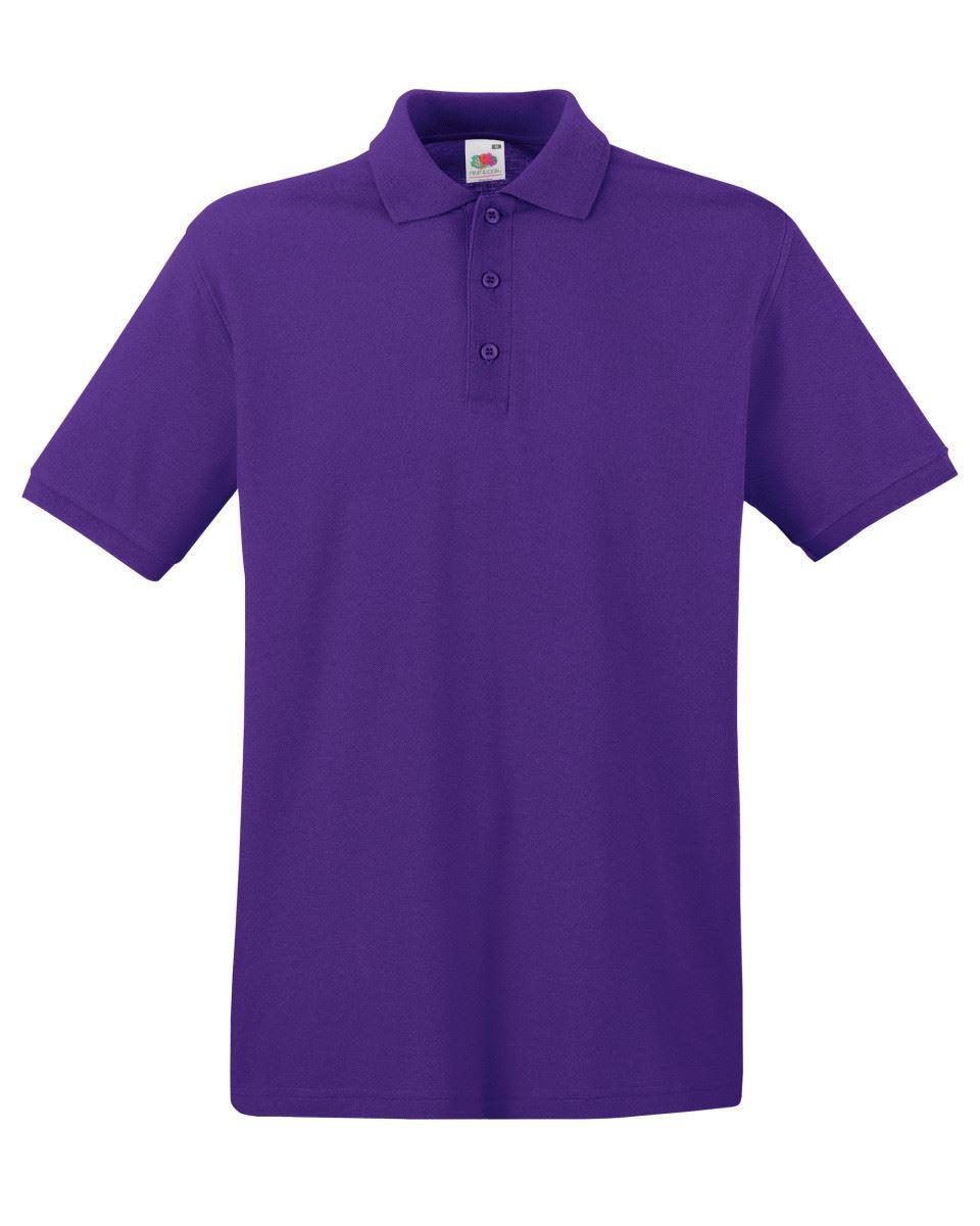 Mens-Polo-Shirts-Fruit-of-the-Loom-Premium-Polo-100-Cotton-Polo-Shirt-SS255 thumbnail 36
