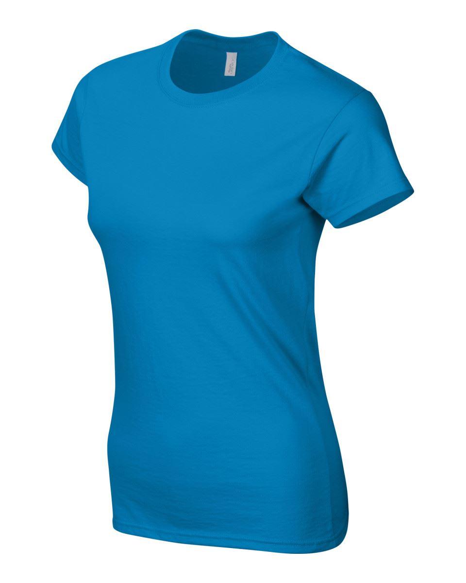 Gildan-Womens-Ladies-Soft-Style-Plain-V-Neck-T-Shirt-Cotton-Tee-Tshirt thumbnail 140