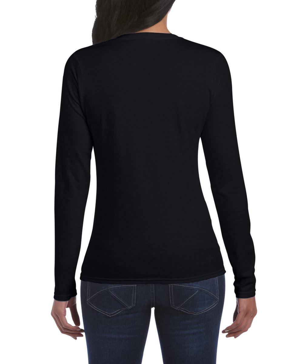 GILDAN-softsyle-Femmes-T-shirt-homme-a-manches-longues-100-Coton-Doux-Decontracte-Femme miniature 9