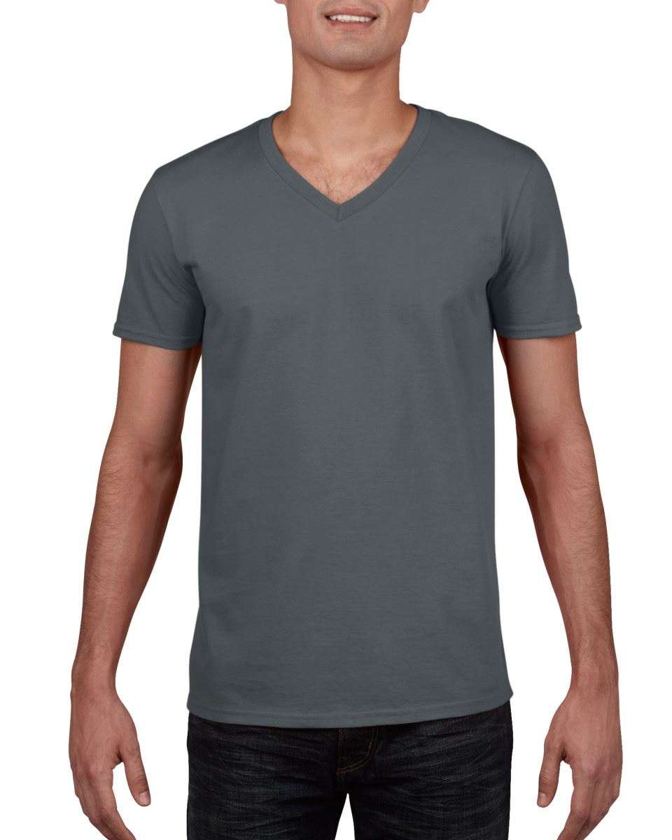 Gildan-Mens-Men-039-s-Soft-Style-Plain-V-Neck-T-Shirt-Cotton-Tee-Tshirt thumbnail 13