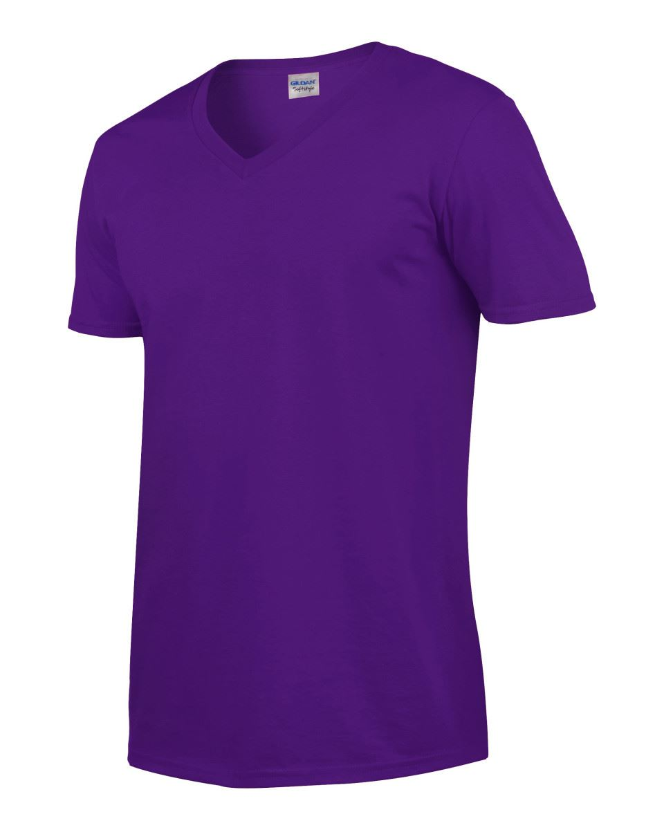 Gildan-Mens-Men-039-s-Soft-Style-Plain-V-Neck-T-Shirt-Cotton-Tee-Tshirt thumbnail 47