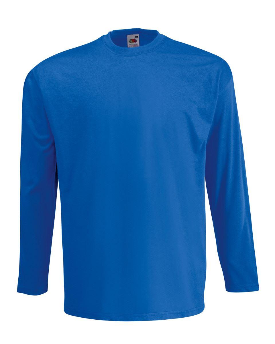 Men-039-s-Fruit-of-the-Loom-Long-Sleeve-T-Shirt-Plain-Tee-Shirt-Top-Cotton-S-5XL thumbnail 15