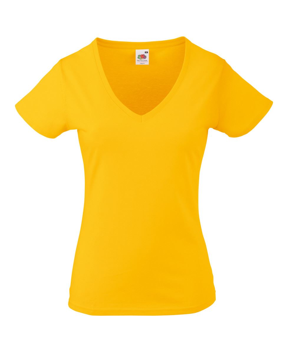 Fruit-Of-The-Loom-LADIES-T-SHIRT-V-NECK-LADY-FIT-COTTON-LYCRA-TOP-TEE-XS-2XL thumbnail 20
