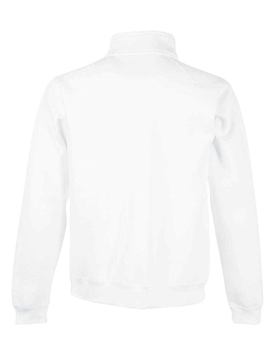 Fruit-Of-The-Loom-Mens-Classic-Zip-Neck-Sweat-Cadet-collar-Sweatshirts miniatura 15