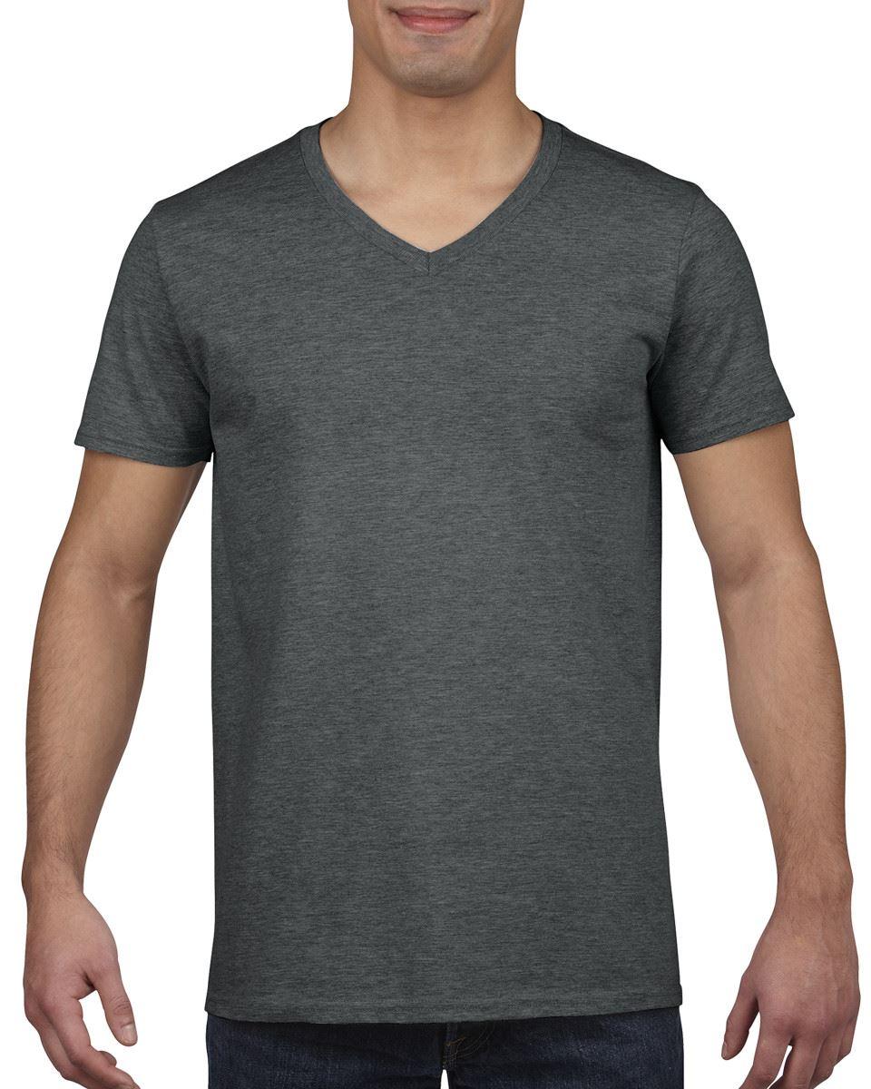 GILDAN-da-uomo-MEN-039-S-SOFT-STYLE-Plain-V-Neck-T-SHIRT-COTTON-TEE-T-shirt miniatura 18