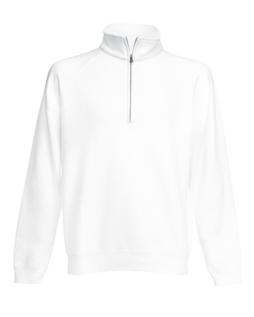 Fruit-Of-The-Loom-Mens-Classic-Zip-Neck-Sweat-Cadet-collar-Sweatshirts miniatura 14