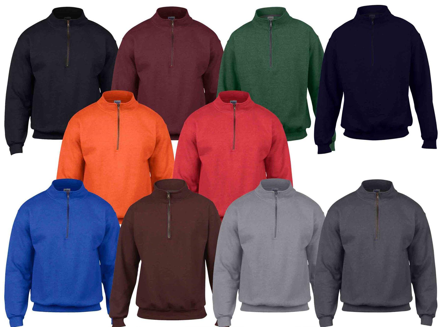 Gildan HeavyBlend Men/'s Vintage 1//4 Zip Pullover Soft Feel Sweatshirt Jumper New