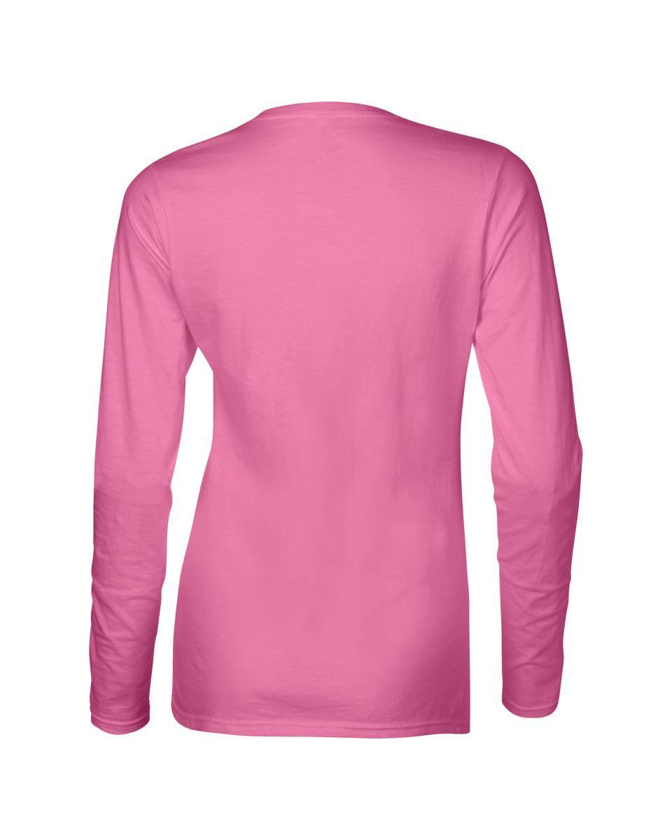 GILDAN-softsyle-Femmes-T-shirt-homme-a-manches-longues-100-Coton-Doux-Decontracte-Femme miniature 16