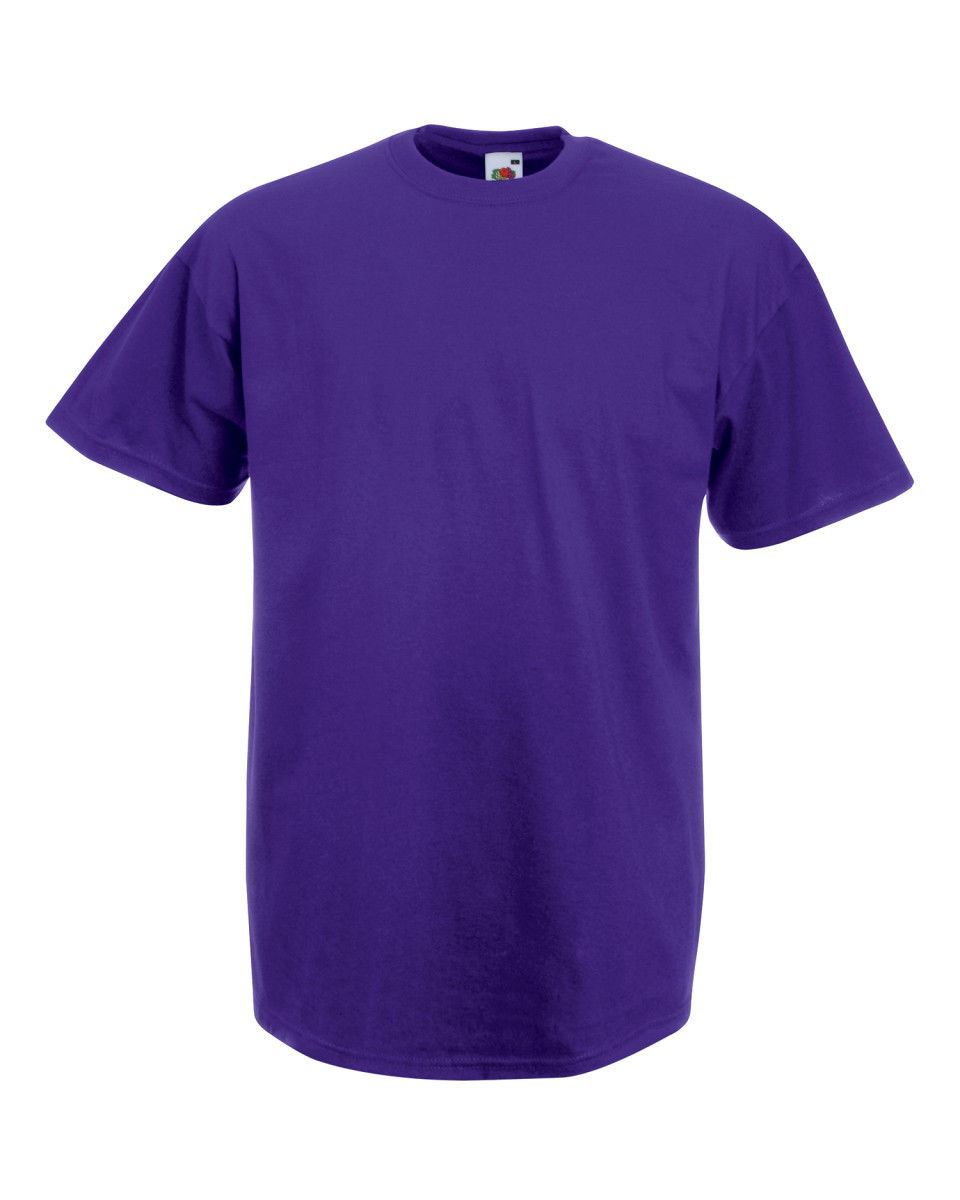 Fruit-Of-The-Loom-Mens-Womens-Valueweight-Plain-Crew-Neck-T-Shirt-Tee-Cotton thumbnail 124