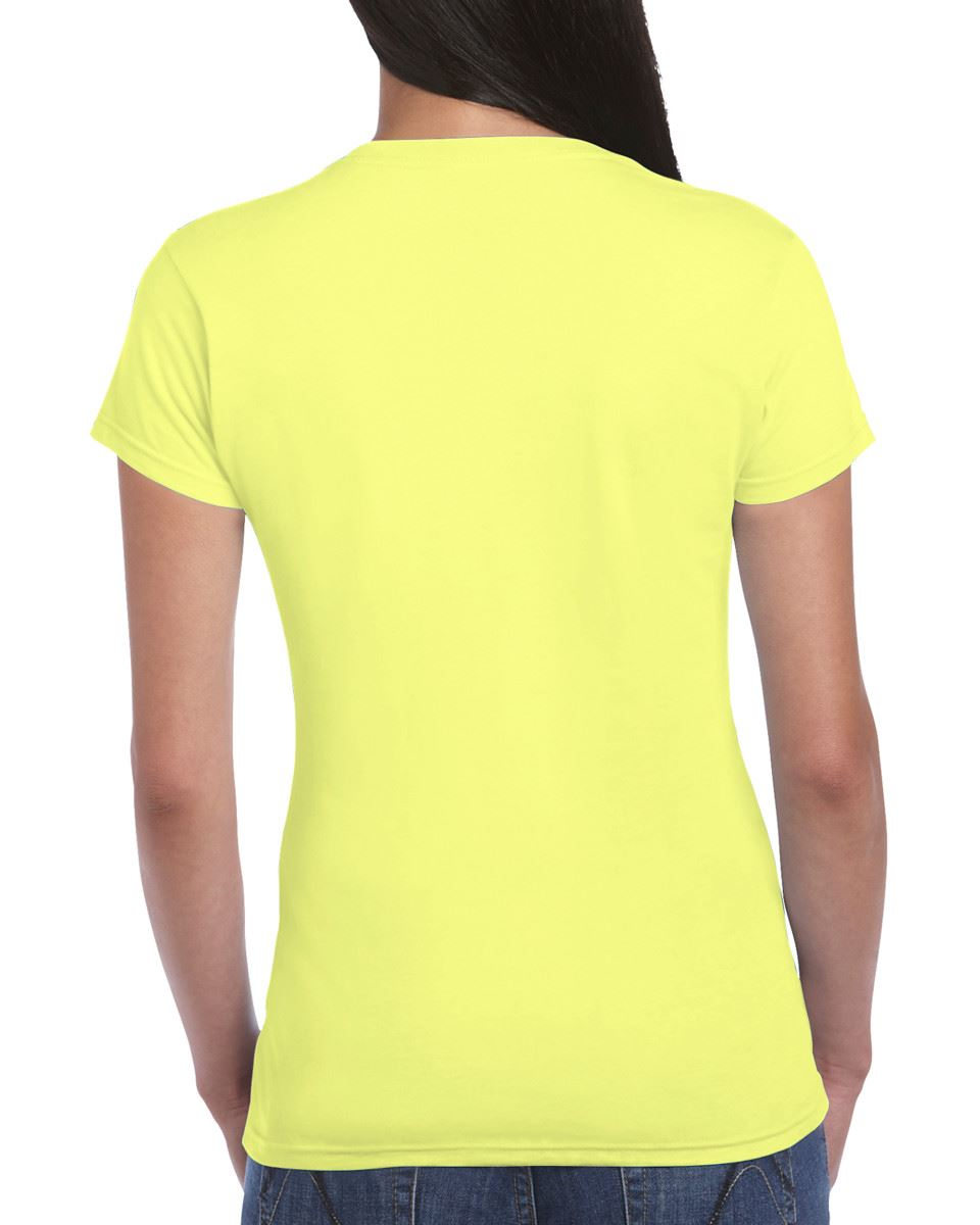 Gildan-Womens-Ladies-Soft-Style-Plain-V-Neck-T-Shirt-Cotton-Tee-Tshirt thumbnail 53
