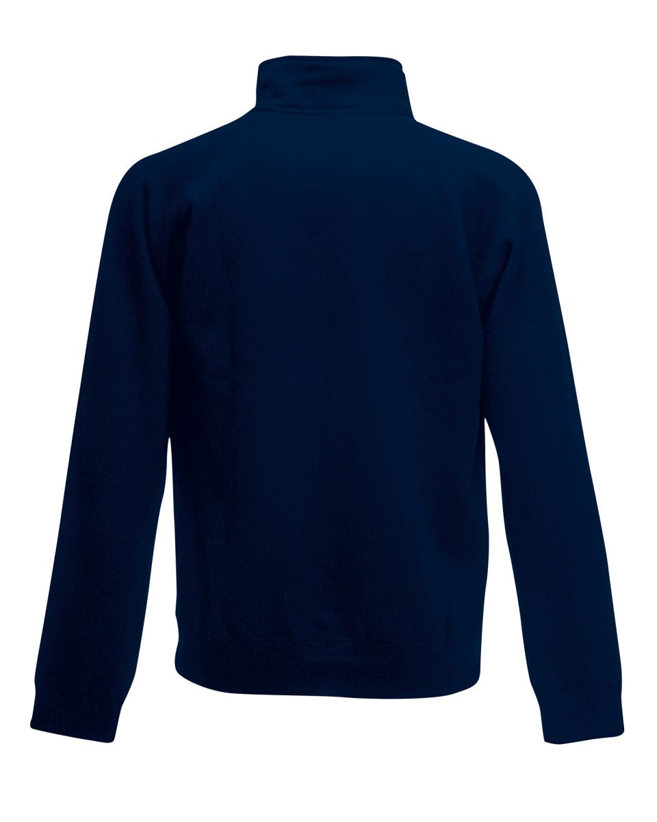 Fruit-Of-The-Loom-Mens-Classic-Zip-Neck-Sweat-Cadet-collar-Sweatshirts miniatura 7