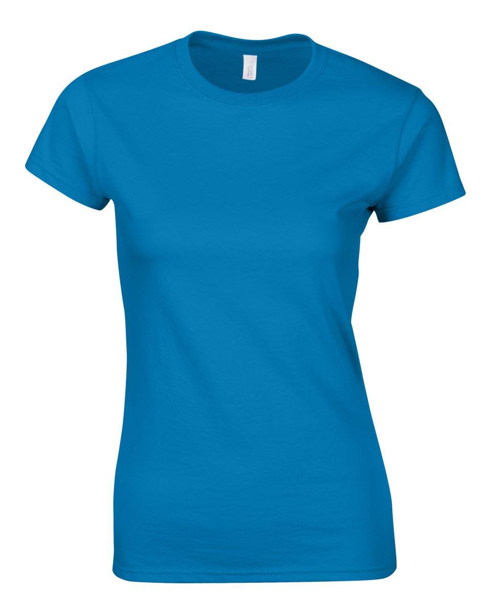 Gildan-Womens-Ladies-Soft-Style-Plain-V-Neck-T-Shirt-Cotton-Tee-Tshirt thumbnail 138
