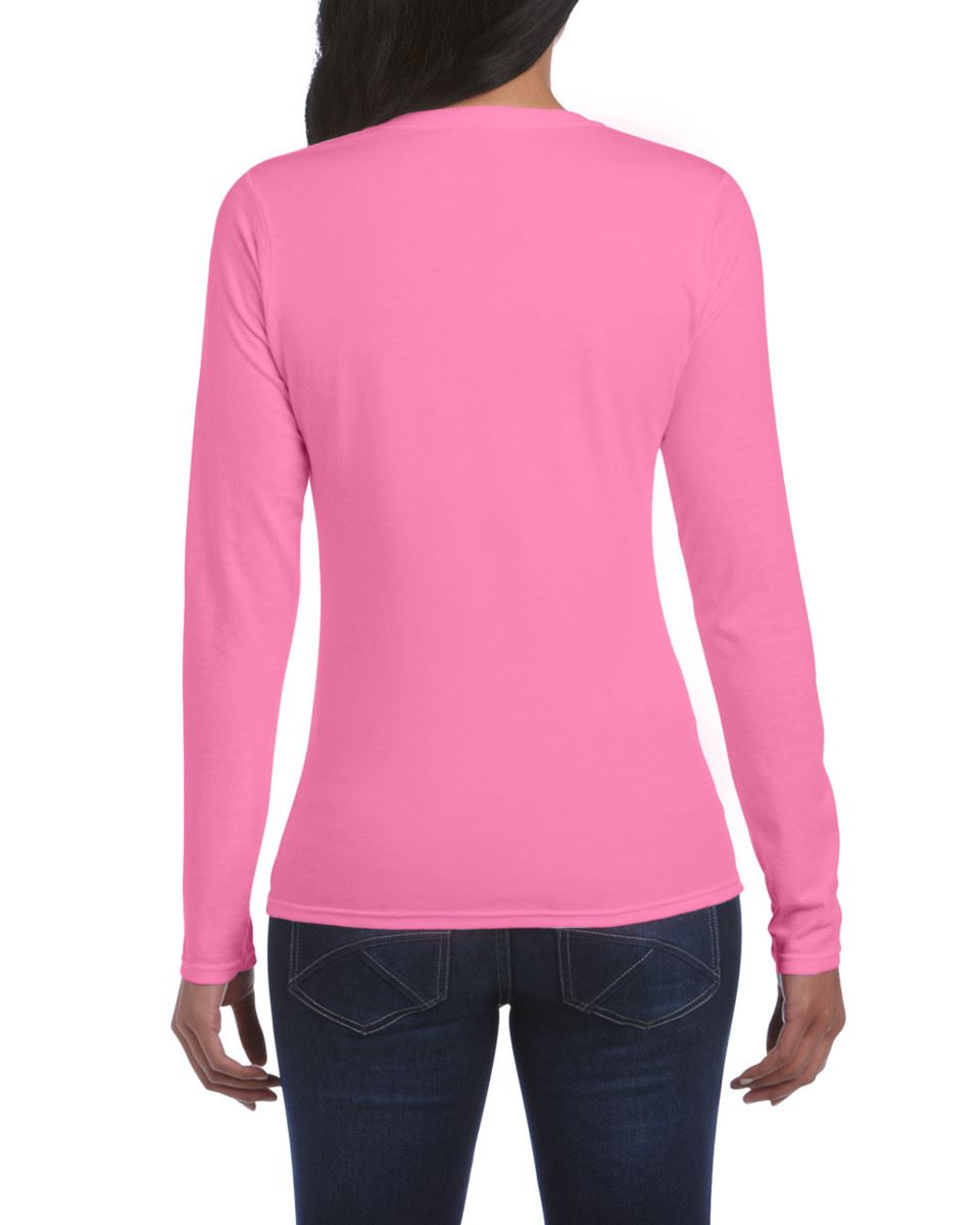 GILDAN-softsyle-Femmes-T-shirt-homme-a-manches-longues-100-Coton-Doux-Decontracte-Femme miniature 14