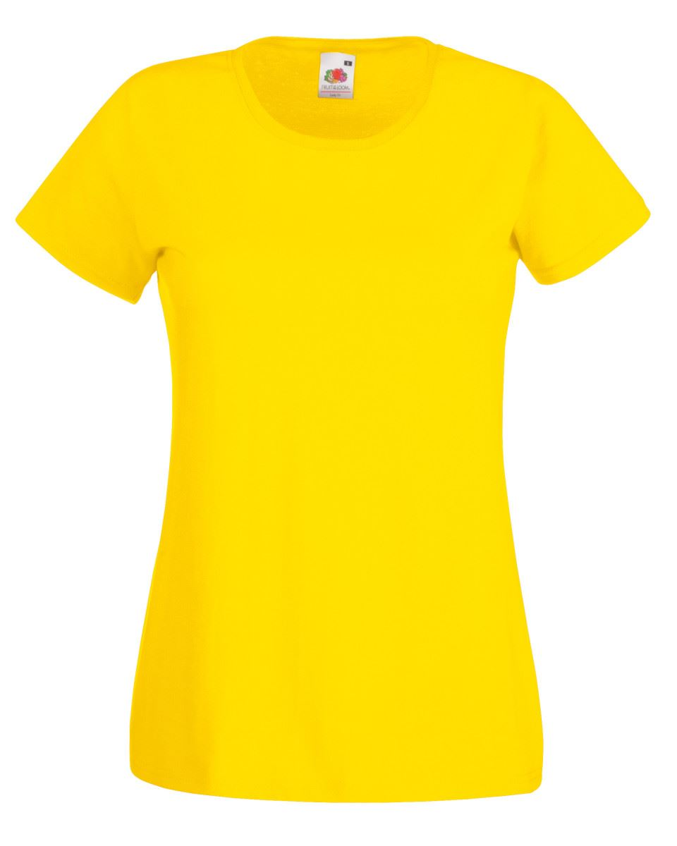 Fruit-of-the-Loom-Womens-Lady-Fit-T-Shirt-Valueweight-Plain-Blank-T-Shirt-Top thumbnail 50