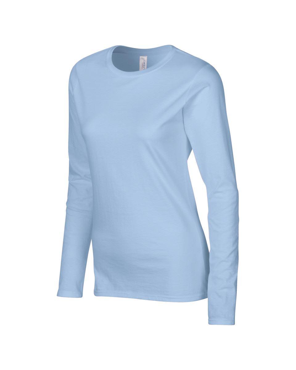 GILDAN-softsyle-Femmes-T-shirt-homme-a-manches-longues-100-Coton-Doux-Decontracte-Femme miniature 27