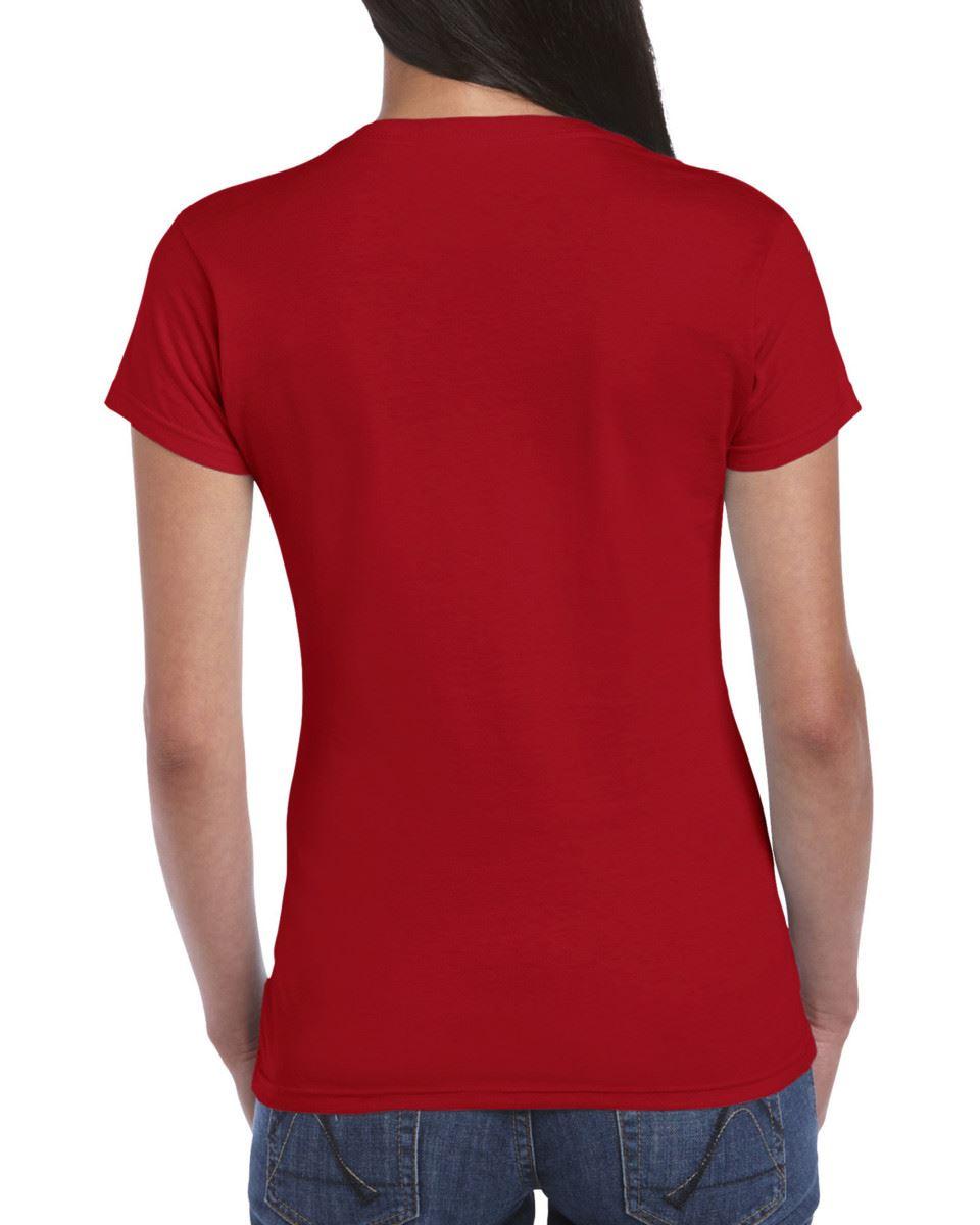 Gildan-Womens-Ladies-Soft-Style-Plain-V-Neck-T-Shirt-Cotton-Tee-Tshirt thumbnail 38