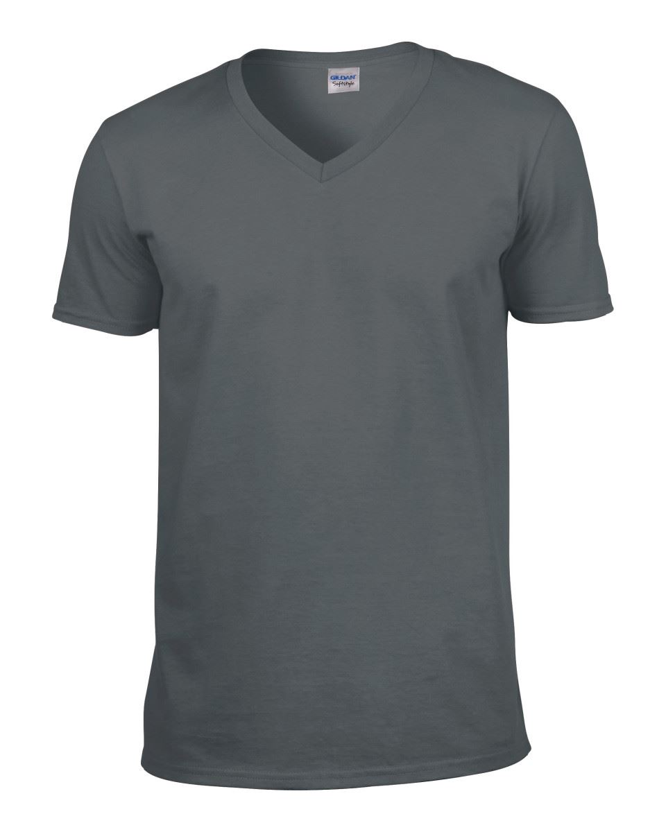 Gildan-Mens-Men-039-s-Soft-Style-Plain-V-Neck-T-Shirt-Cotton-Tee-Tshirt thumbnail 15