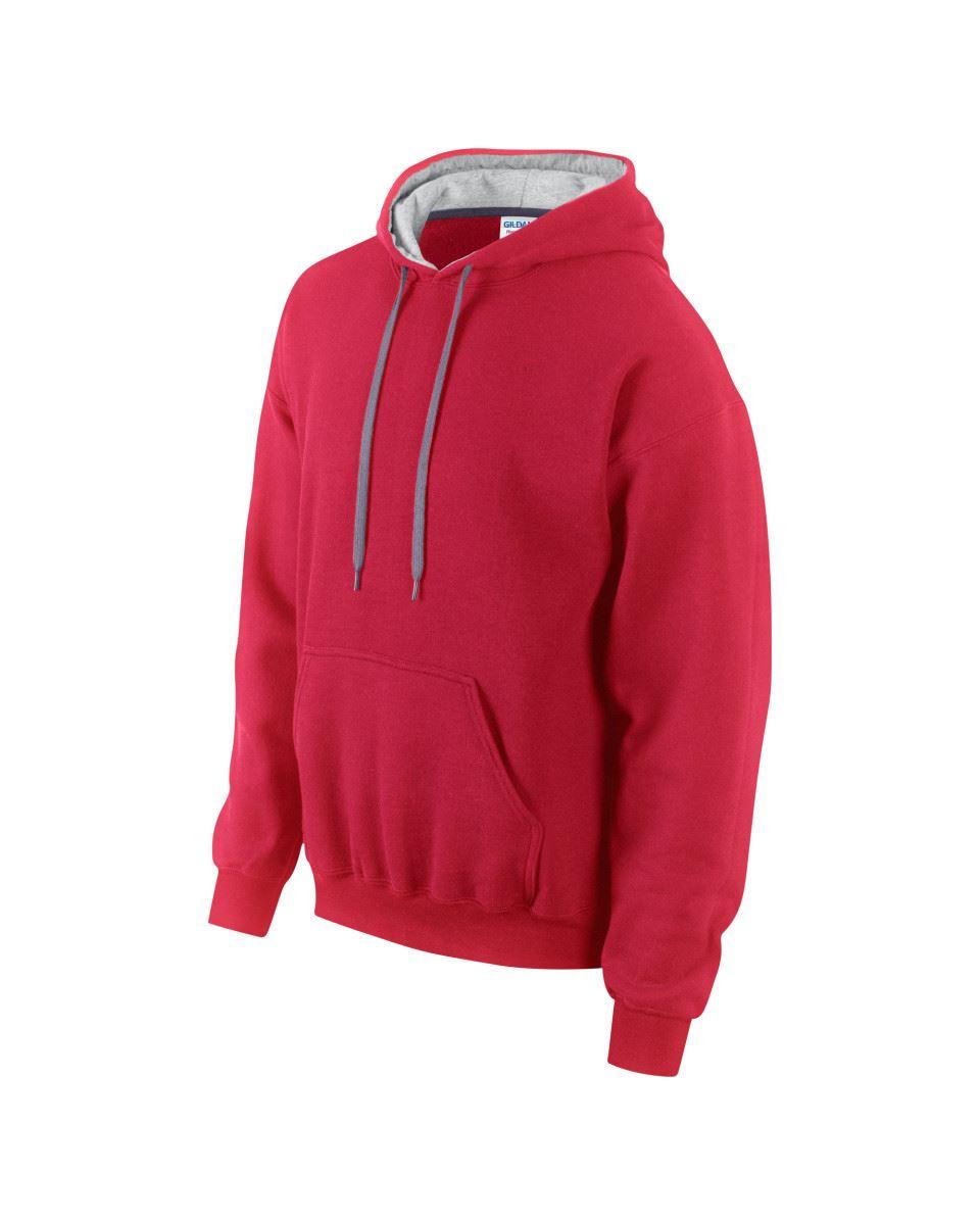 Gildan-Heavy-Blend-Plain-Contrast-Hooded-Sweatshirt-Hoodie-Sweat-Hoody-Jumper thumbnail 25
