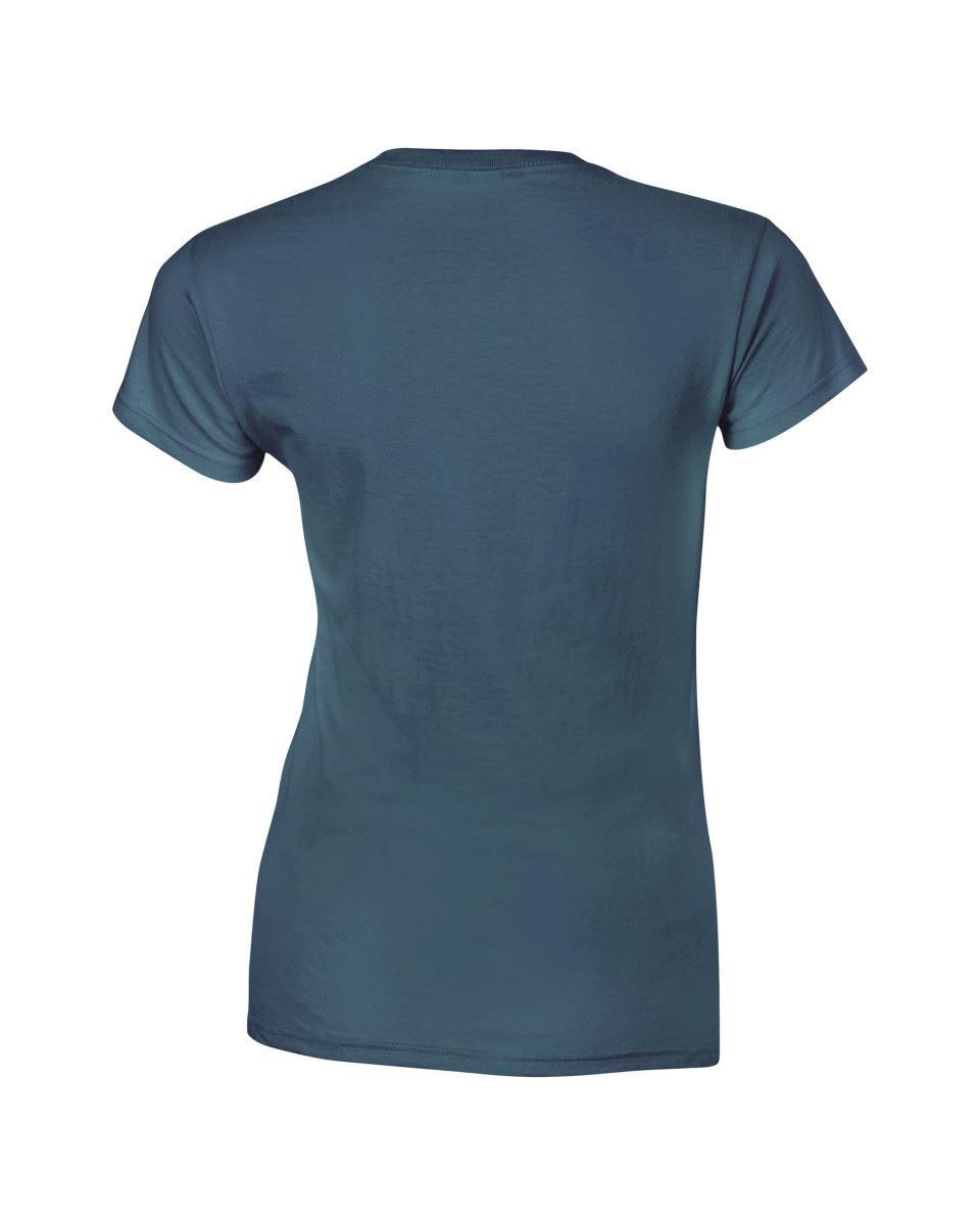 Gildan-Womens-Ladies-Soft-Style-Plain-V-Neck-T-Shirt-Cotton-Tee-Tshirt thumbnail 87