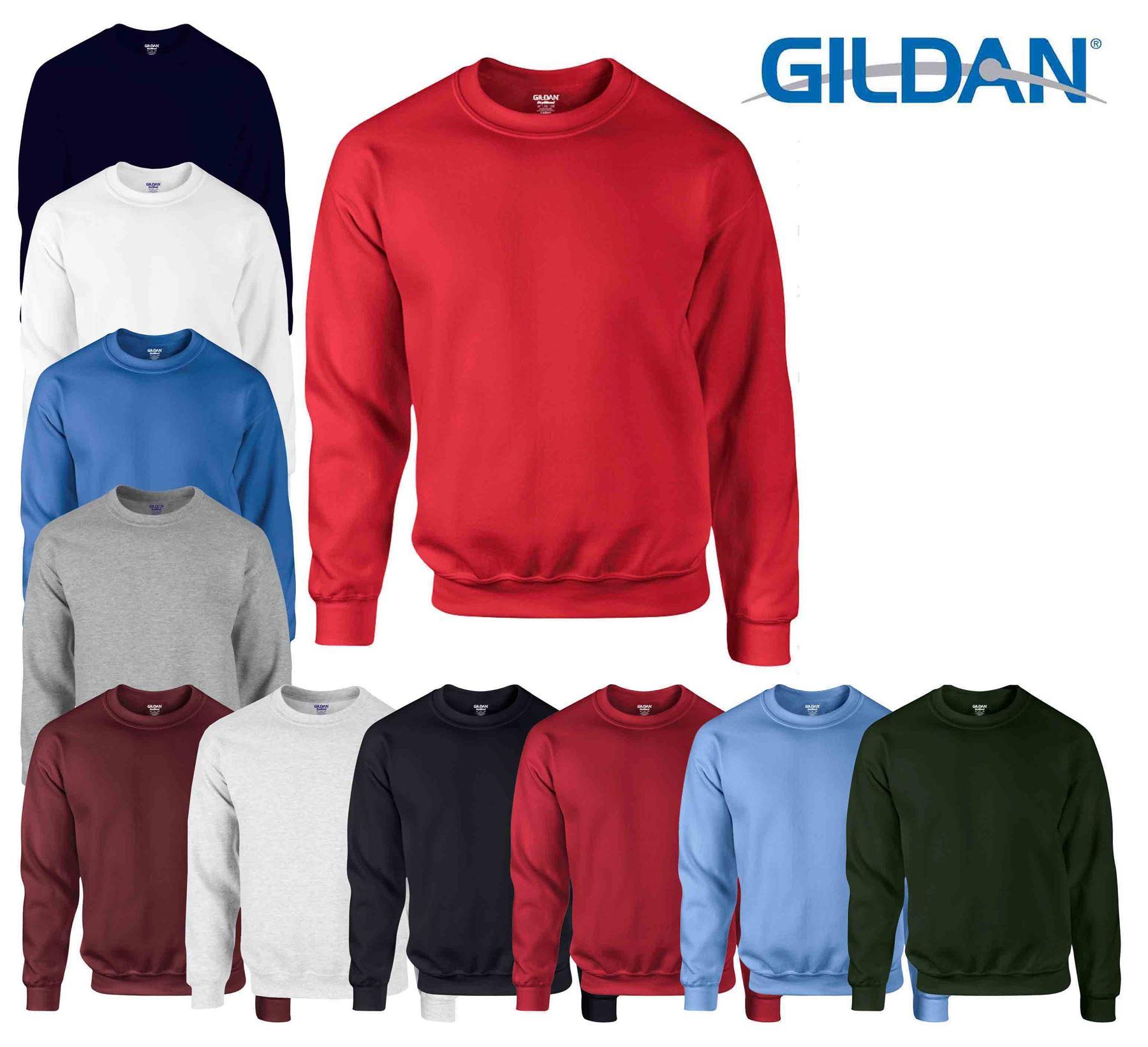 2XL Gildan DryBlend® Adult Crew Neck Sweatshirt Softer Feel Jersey Jumper TOP S